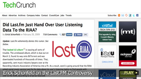 Erick Schonfeld on the Last.FM Controversy