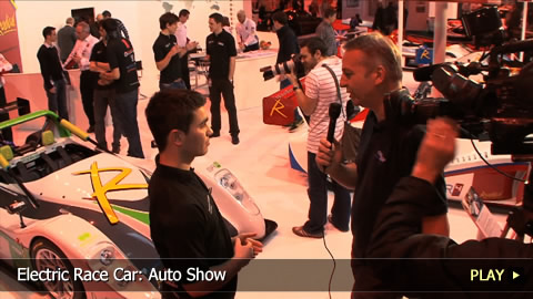 Electric Race Car: Auto Show