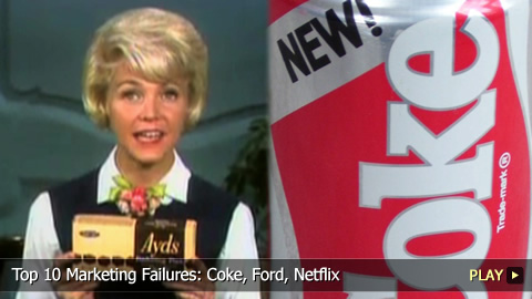 Top 10 Marketing Failures: Coke, Ford, Netflix