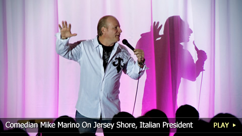 Comedian Mike Marino On Jersey Shore, Italian President