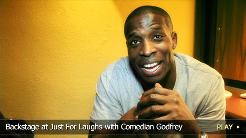 Backstage at the Just For Laughs Festival with Comedian Godfrey