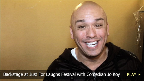 Backstage at the Just For Laughs Festival with Comedian Jo Koy