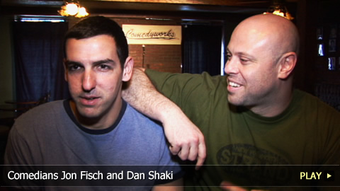 Comedians Jon Fisch and Dan Shaki