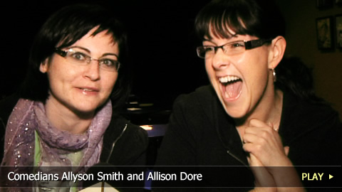 Comedians Allyson Smith and Allison Dore