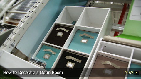 How to Decorate a Dorm Room