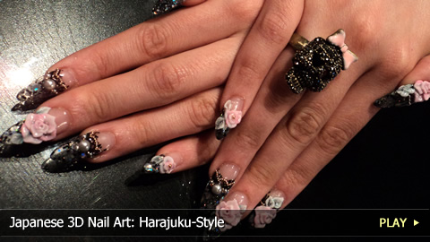 Japanese 3D Nail Art: Harajuku-Style