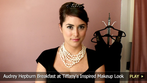 Audrey Hepburn Breakfast at Tiffany's Inspired Makeup Look