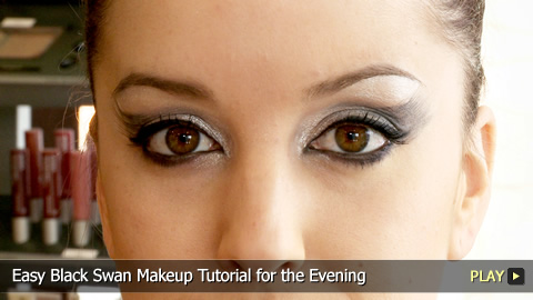 Easy Black Swan Makeup Tutorial for the Evening
