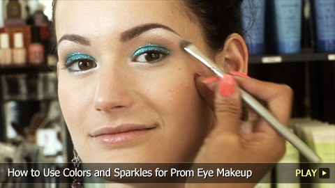How To Apply Colors and Sparkles For Eye Makeup