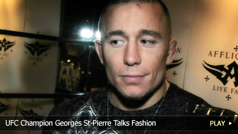 UFC Champion Georges St-Pierre Talks Fashion