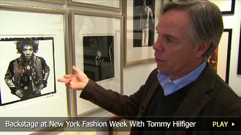 Behind The Scenes at New York Fashion Week With Tommy Hilfiger