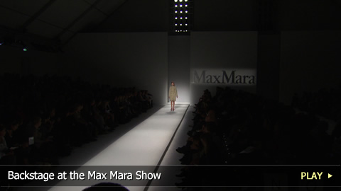 Backstage at the Max Mara Show