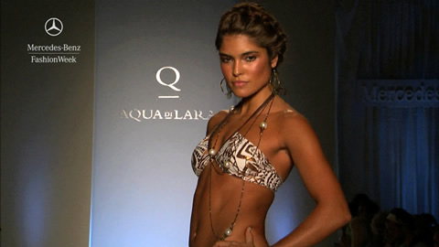 Aqua di Lara on the Mercedes-Benz Runway