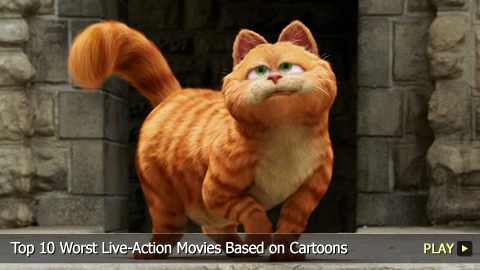 Top 10 Worst Live-Action Movies Based on Cartoons