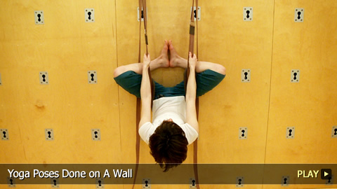 Yoga Poses Done on A Wall