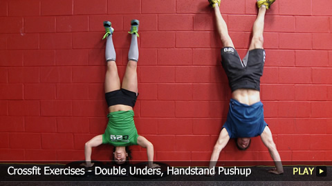 Reebok CrossFit Workout: Exercises - Double Unders, Handstand Pushup