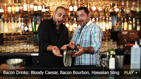 Bacon Drink Recipes: Bloody Caesar, Bacon Bourbon, Hawaiian Sling