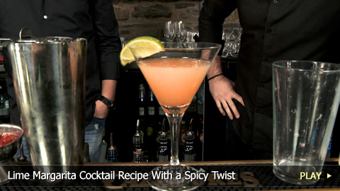 Lime Margarita Cocktail Recipe With a Spicy Twist