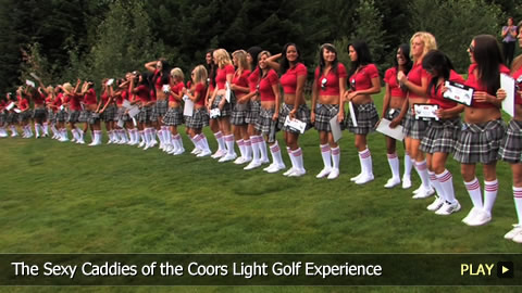 The Sexy Caddies of the Coors Light Golf Experience