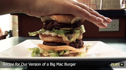 Recipe for Our Version of a Big Mac Burger