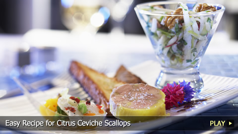 Easy Recipe for Citrus Ceviche Scallops