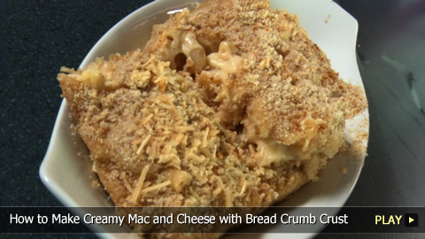 How to Make Creamy Mac and Cheese with Bread Crumb Crust