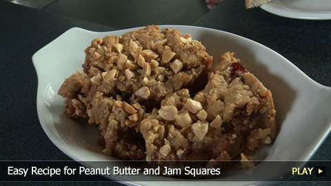 Easy Recipe for Peanut Butter and Jam Squares