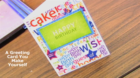 How To Make a Greeting Card Part 1