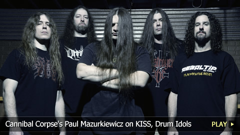 Cannibal Corpse's Paul Mazurkiewicz on KISS, Drum Idols