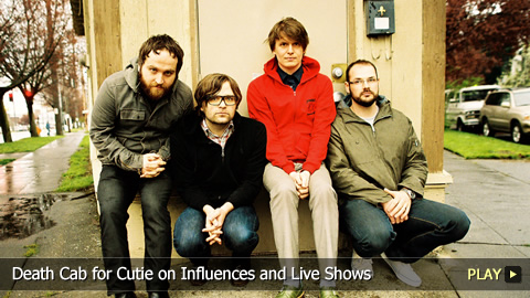 Death Cab for Cutie on Influences and Live Shows