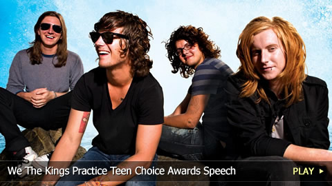 We The Kings Practice Teen Choice Awards Speech