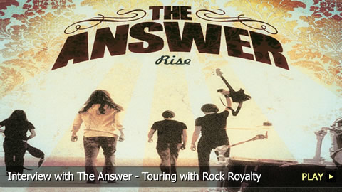 Interview With The Answer - Touring with Rock Royalty