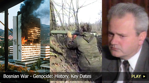 Bosnian War - Genocide: History, Key Dates