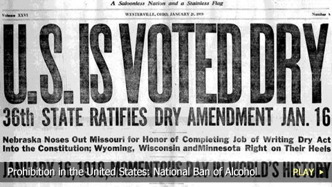 the effects of prohibition in the united states Prohibition essentially began in june of that year, but the amendment did not officially take effect until january 29, 1920 in the meantime, congress passed the volstead act on october 28, 1919 .