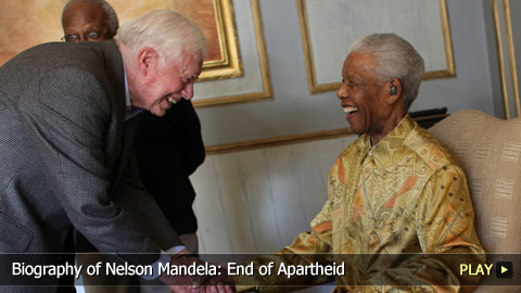 Biography of Nelson Mandela: End of Apartheid