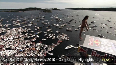 Red Bull Cliff Diving Norway 2010 - Competition Highlights