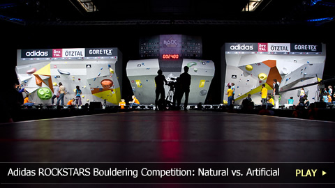 adidas ROCKSTARS Bouldering Competition: Natural vs. Artificial