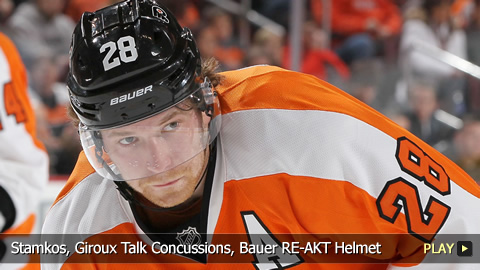 Stamkos, Giroux Talk Concussions, Bauer RE-AKT Helmet