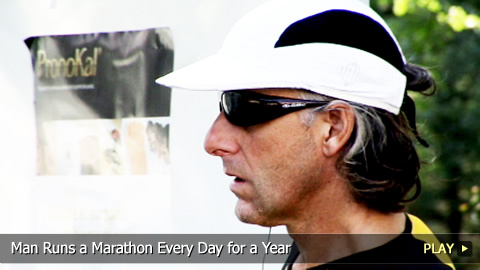 Man Runs a Marathon Every Day for a Year