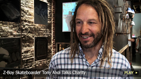 Z-Boy Skateboarder Tony Alva Talks Charity