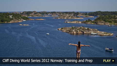 Cliff Diving World Series 2012 Norway: Training and Preparation