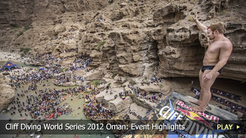 Cliff Diving World Series 2012 Oman: Event Highlights
