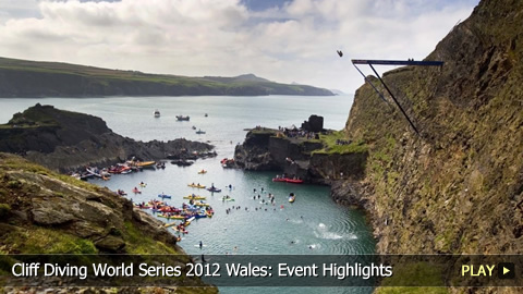 Cliff Diving World Series 2012 Wales: Event Highlights