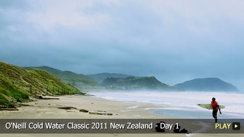 O'Neill Cold Water Classic 2011 New Zealand - Surfing Highlights: Day 1