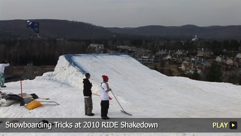 Snowboarding Tricks at 2010 RIDE Shakedown