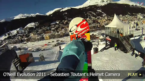 O'Neill Evolution 2011 - View from Snowboarder Sebastien Toutant's Helmet Camera