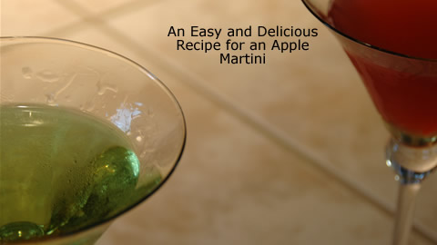 Video Drink Recipe: Apple Martini