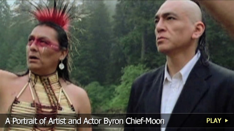 A Portrait of Artist and Actor Byron Chief-Moon