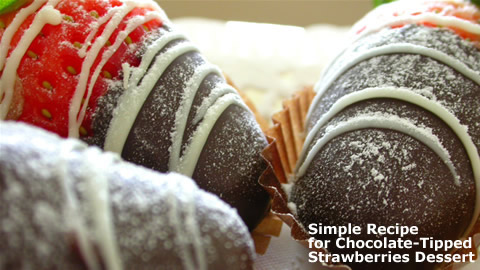 Chocolate-Dipped Strawberry Dessert Recipe