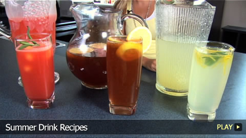 Summertime Drinks: Homemade Lemonade, Iced Tea & Watermelon Cooler